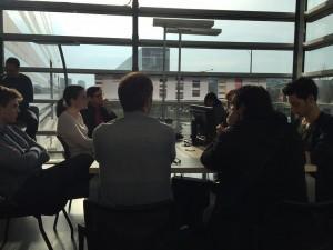 Conférence de rédaction du JT de France Info.