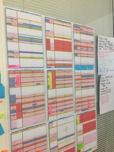 Exemple de programmation pour une semaine de diffusion sur une chaîne en continu.